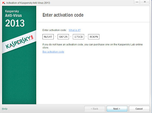 kaspersky antivirus 2013 activation key